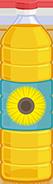 botella de aceite de girasol